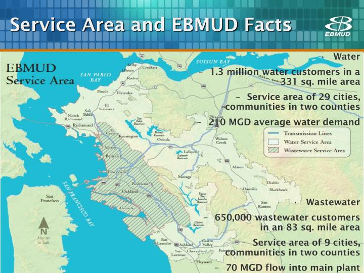Service area and ebmud facts