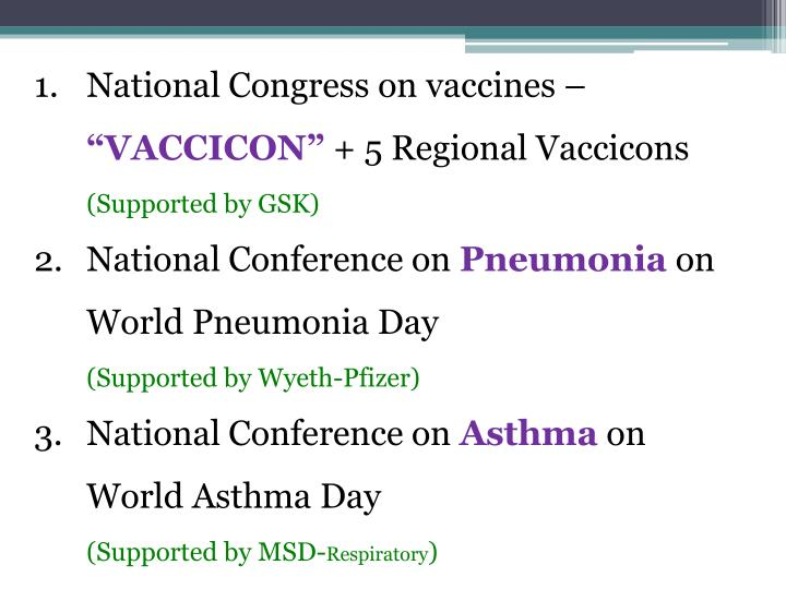 National Congress on vaccines –