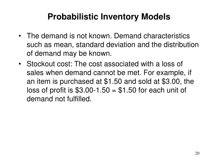 Probabilistic Inventory Models