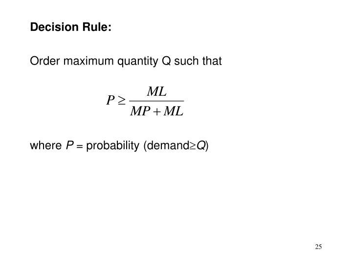 Decision Rule: