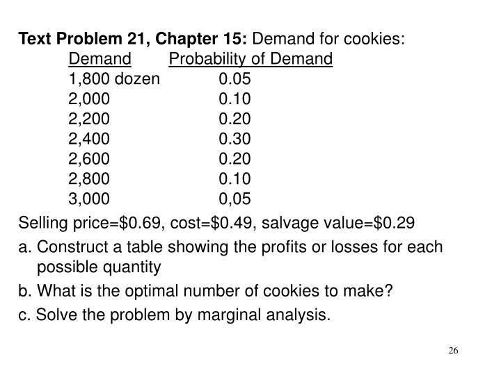 Text Problem 21, Chapter 15: