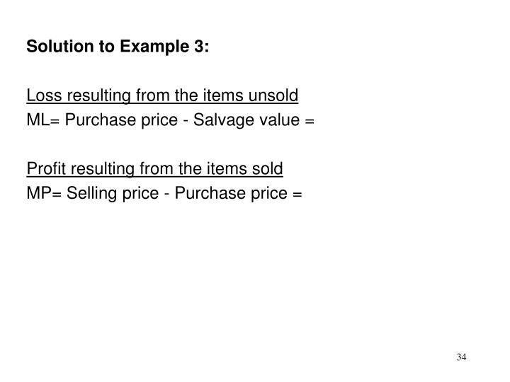 Solution to Example 3: