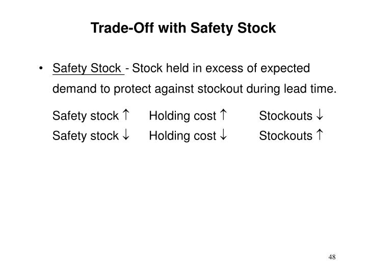Trade-Off with Safety Stock