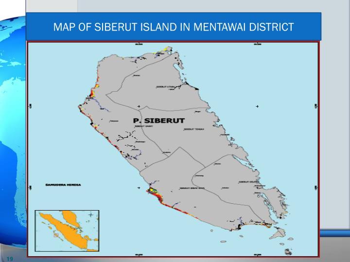MAP OF SIBERUT ISLAND IN MENTAWAI DISTRICT