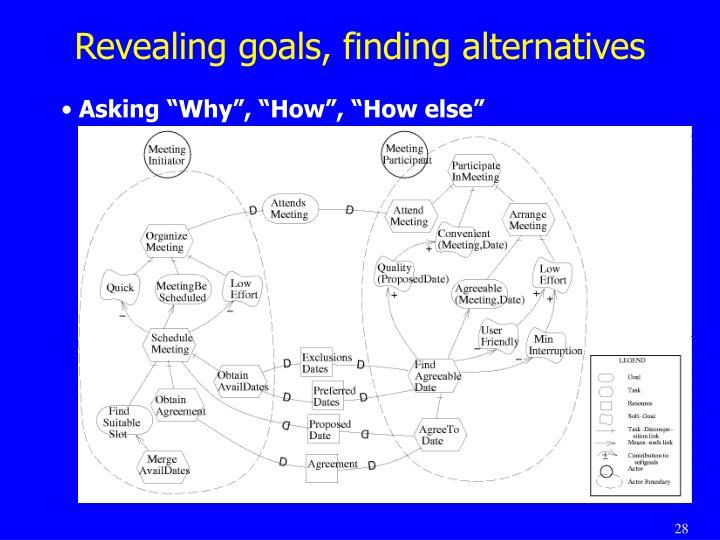 Revealing goals, finding alternatives