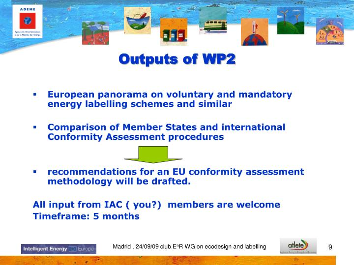 Outputs of WP2