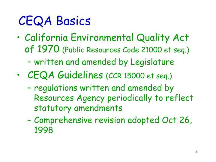Ceqa basics