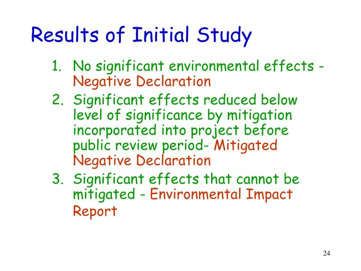Results of Initial Study