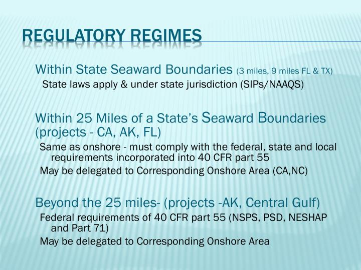 Regulatory Regimes