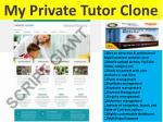 my private tutor clone