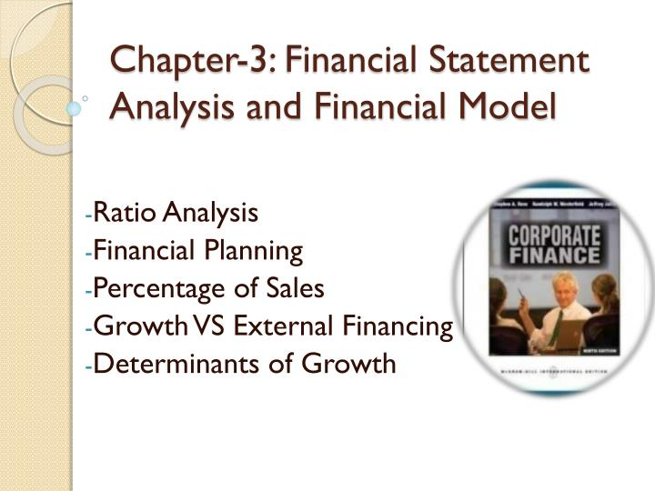 chapter 3 financial statement analysis and financial model n.