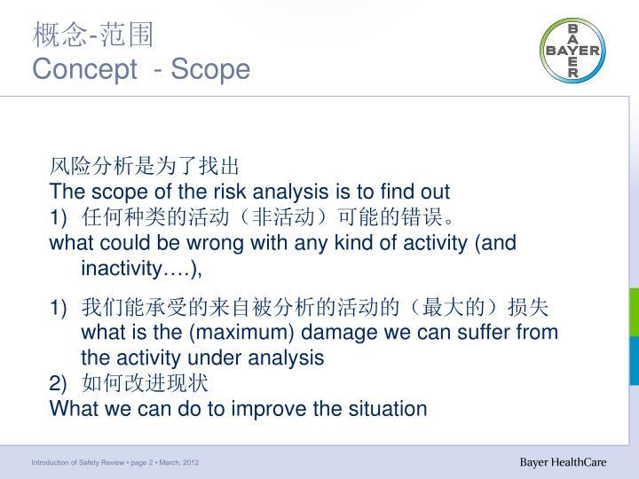 Concept scope