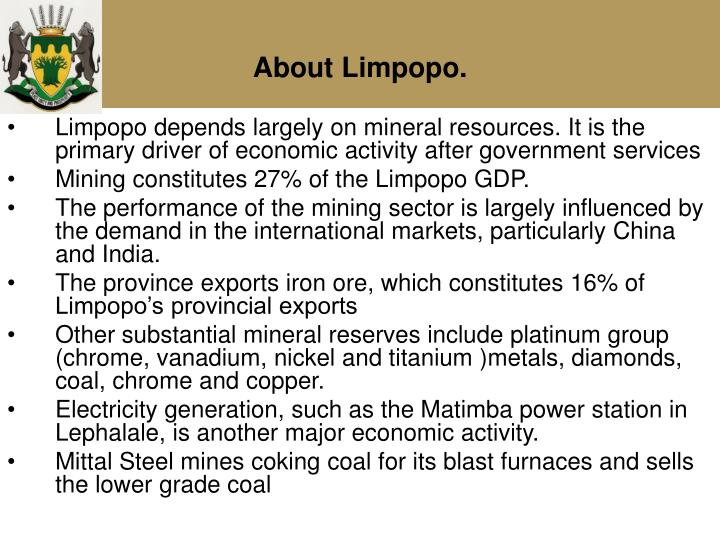 About Limpopo.