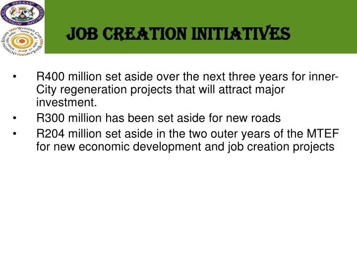 Job Creation initiatives