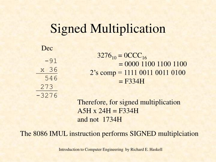 Signed Multiplication