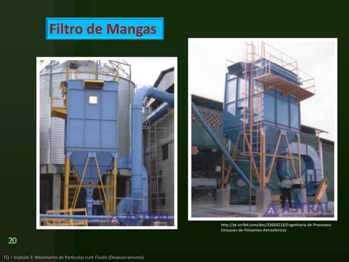 Filtro de Mangas