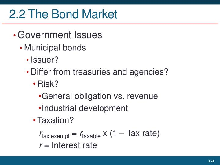2.2 The Bond Market