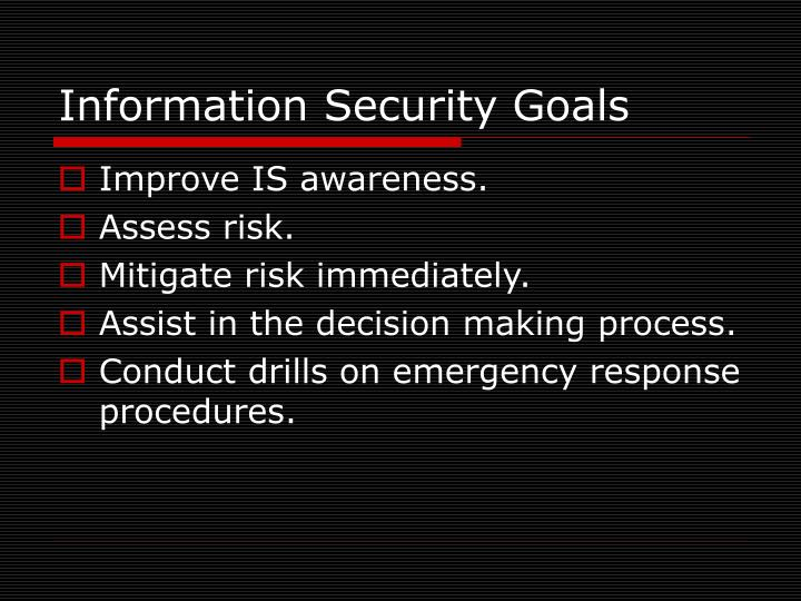 Information Security Goals