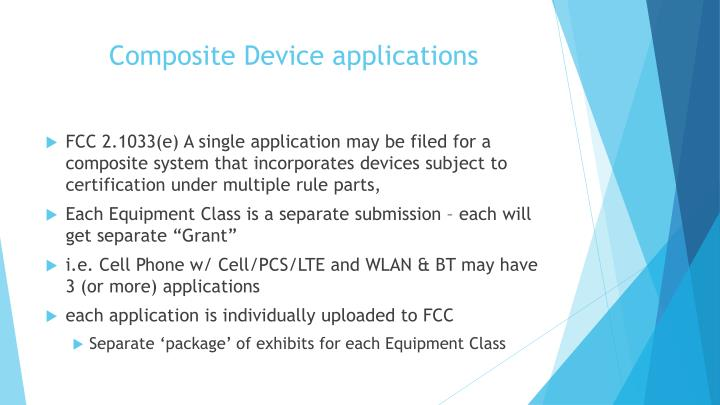 Composite Device applications