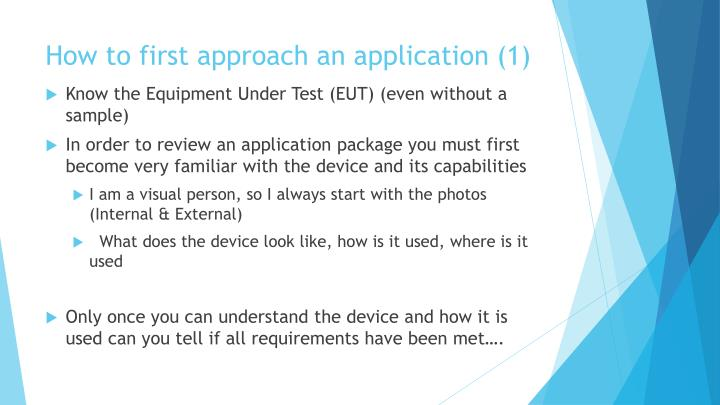 How to first approach an application (1)
