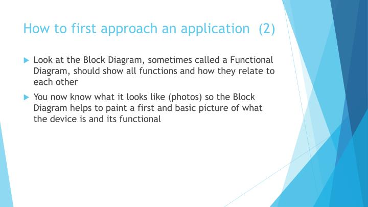 How to first approach an application  (2)
