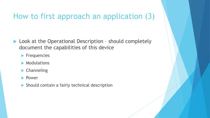 How to first approach an application (3)