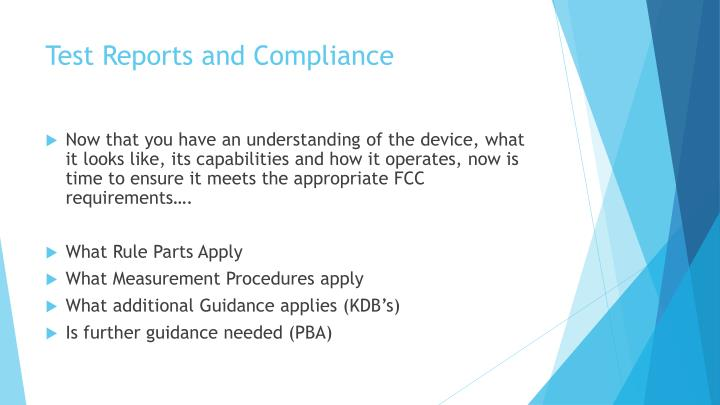 Test Reports and Compliance