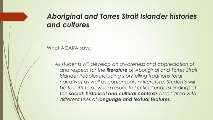 Aboriginal and Torres Strait Islander histories and cultures
