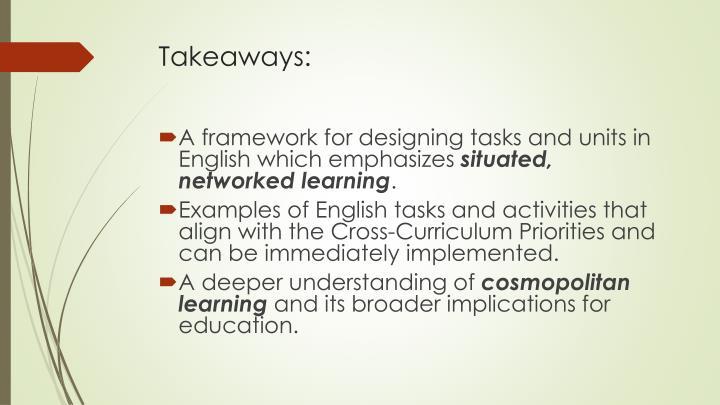 Takeaways: