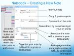notebook creating a new note