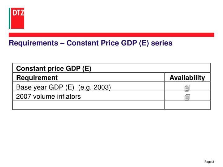 Constant price GDP (E)