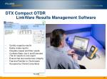 dtx compact otdr linkware results management software