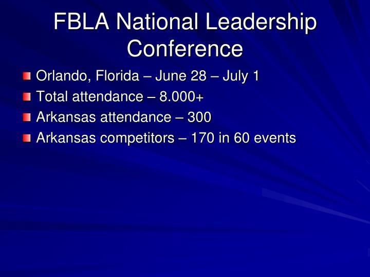 FBLA National Leadership Conference
