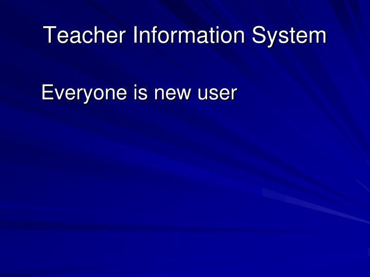 Teacher information system