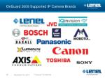 onguard 2009 supported ip camera brands