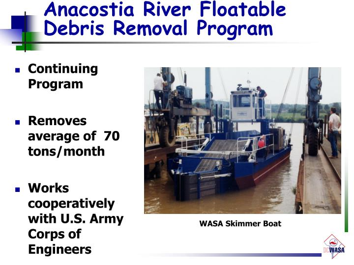 Anacostia River Floatable Debris Removal Program