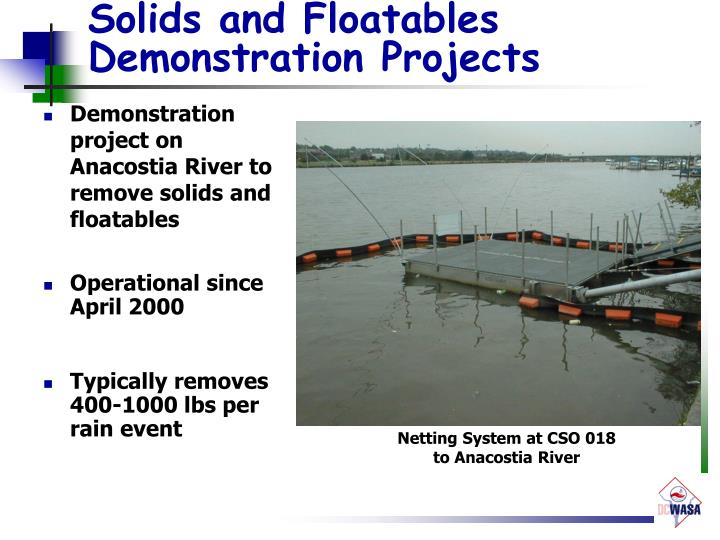 Solids and Floatables Demonstration Projects