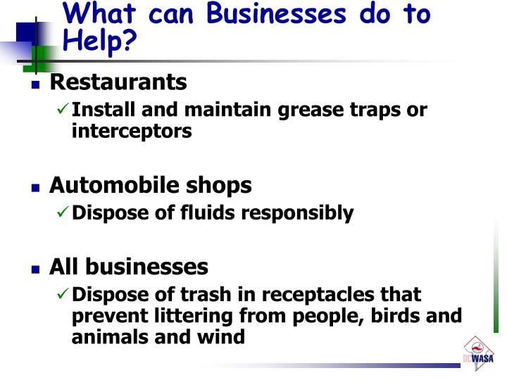 What can Businesses do to Help?