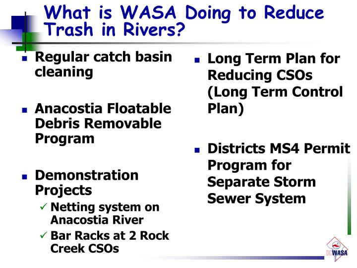 What is WASA Doing to Reduce Trash in Rivers?