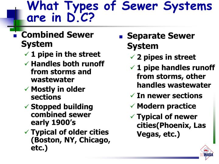 What Types of Sewer Systems are in D.C?