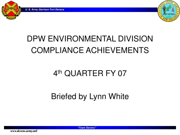 DPW ENVIRONMENTAL DIVISION
