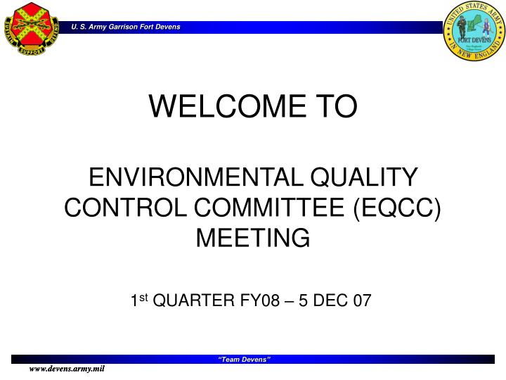 Welcome to environmental quality control committee eqcc meeting