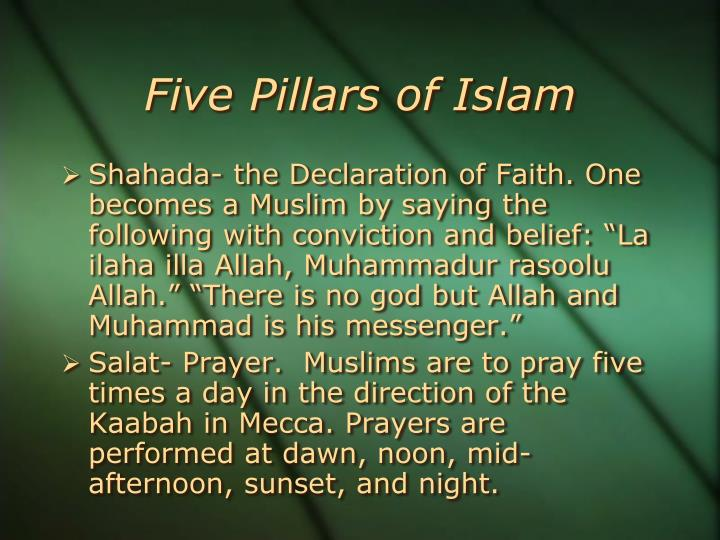 an analysis of the five pillars of islam in the world religions by houstin smith Study guide: interfaith dialog please use this study guide to acquire some basic understanding of key stories, concepts and terms from huston smith's the illustrated world's religions: a guide to our.
