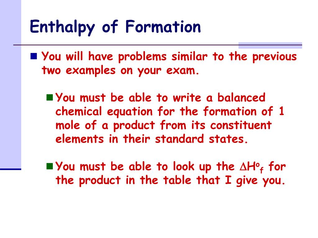 PPT - Enthalpy of Formation PowerPoint Presentation, free ...