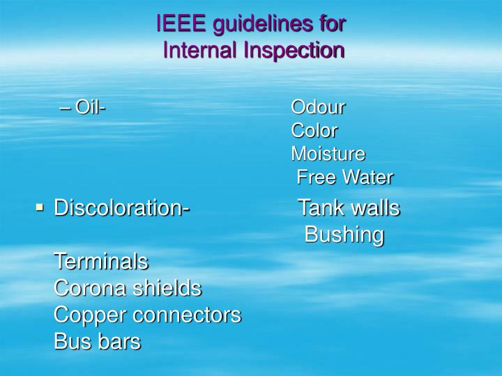 IEEE guidelines for