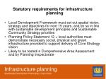 infrastructure planning sustainable development partnership 21 april 20094