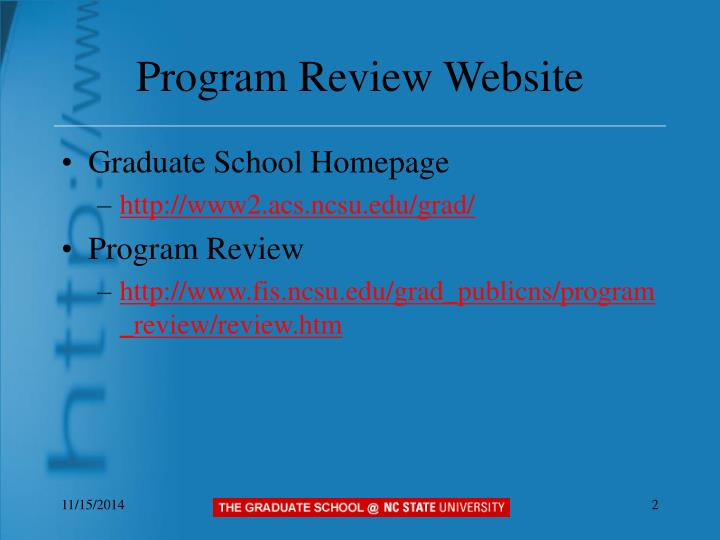Program review website