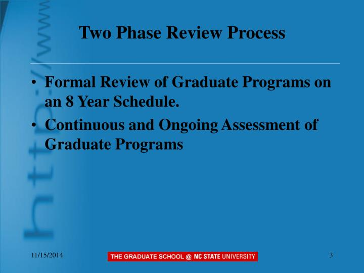 Two phase review process