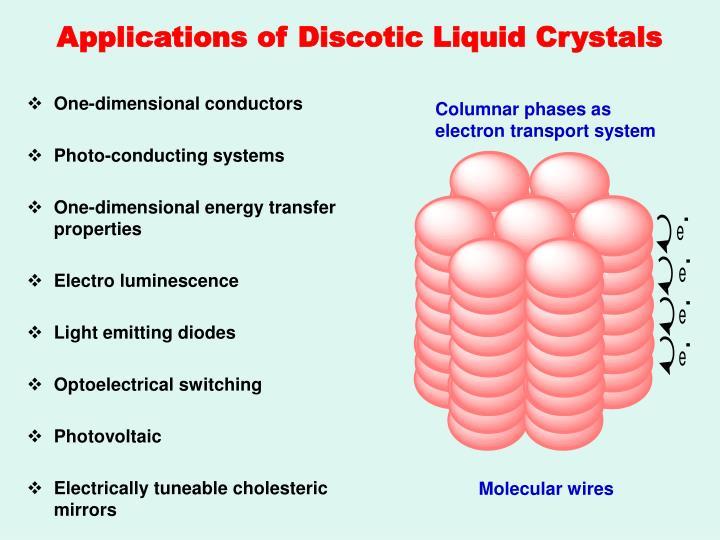 Applications of Discotic Liquid Crystals