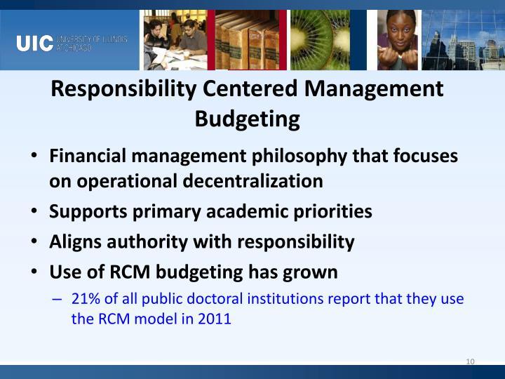 Responsibility Centered Management Budgeting